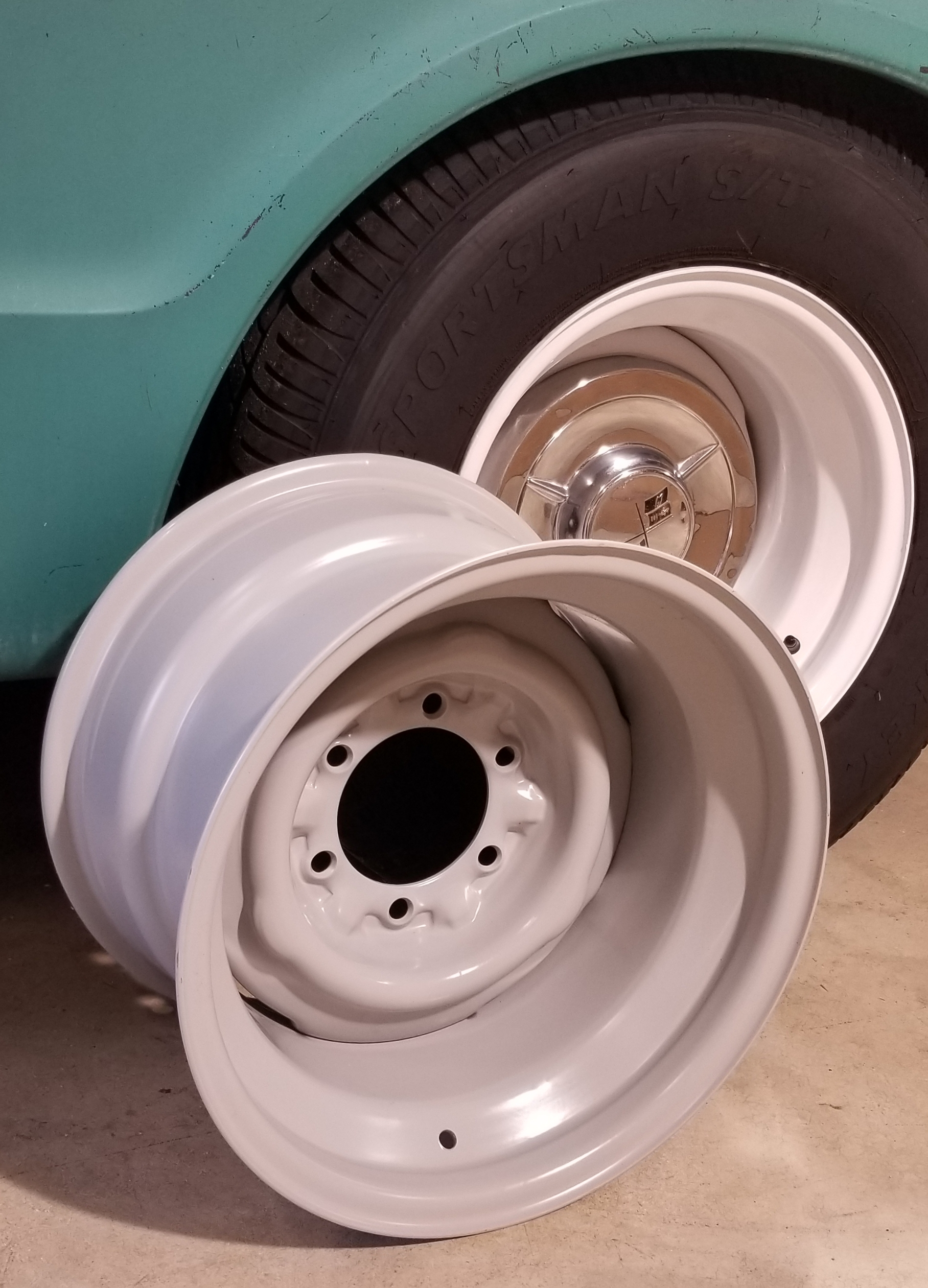 15 10 Steelie 6 Lug Wheel 5 5 Bolt Pattern Cooper Restorations